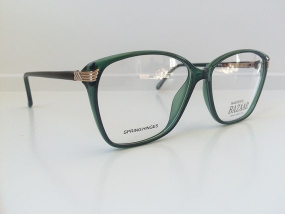 Jade Green Eyeglass Frames : Vintage Green Glasses Oversized Cat Eyeglasses Clear Lens