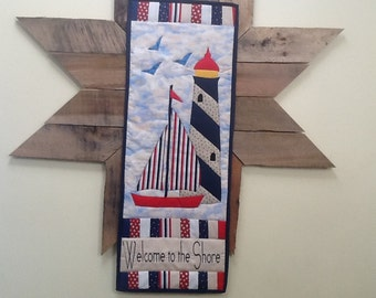 Lighthouse quilted wall hanging