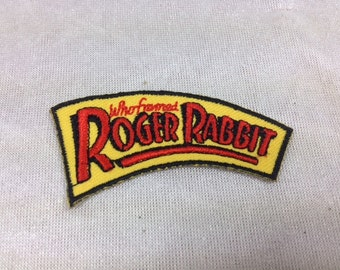 Who Framed Roger Rabbit Embroidered Patch , Vintage Disney Patch