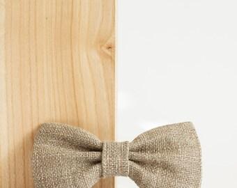 Bow tie  Linen tie Burlap bow tie  Rustic bow tie Men's linen tie Burlap wedding accessories Country wedding
