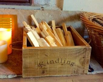 Vintage style Kindling box/Kindling basket