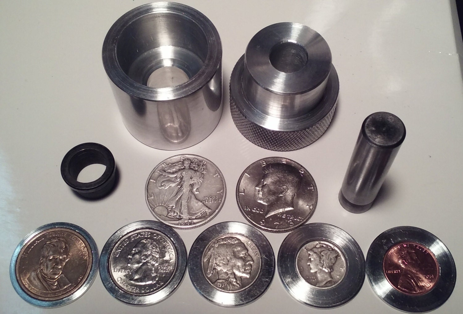 Coin Ring Center Punch For 50 Cent Piece Sale Sale From