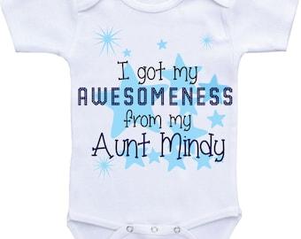 Auntie and nephew gift Auntie Onesies baby clothes aunt onesie auntie shirt baby boy aunt shirt i love my aunt onesie auntie onsie nephew