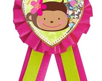 Pink Mod ''Monkey Love''  Guest-of-Honor Award Ribbon