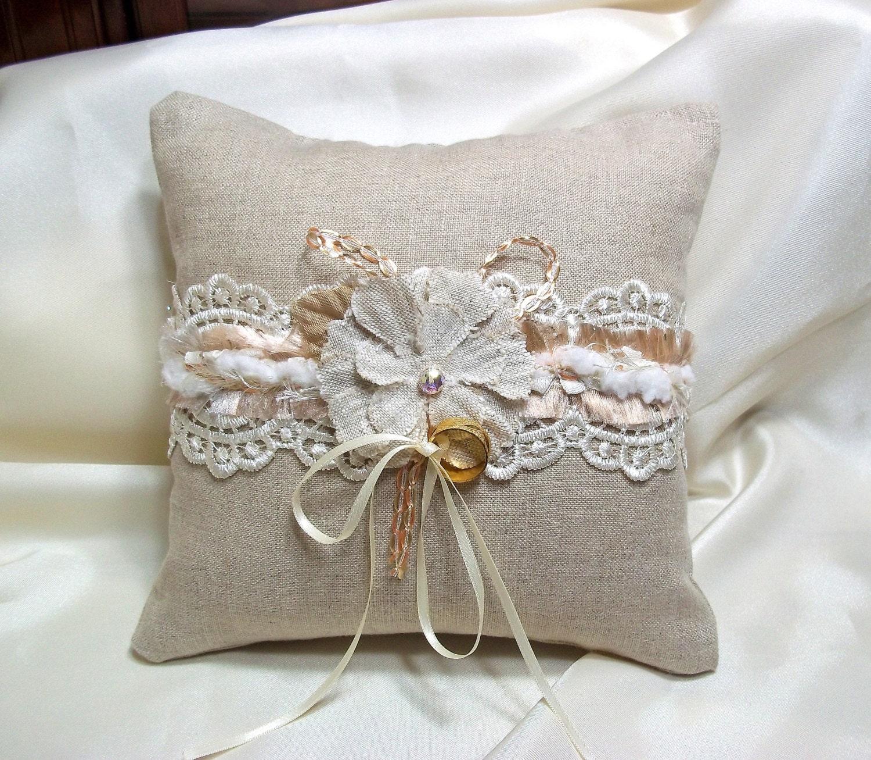 rustic ring bearer pillow rustic wedding boho by