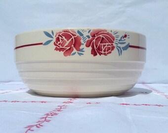 French Badonviller Salad bowl / Large bowl / Porcelain bowl / French earthenware