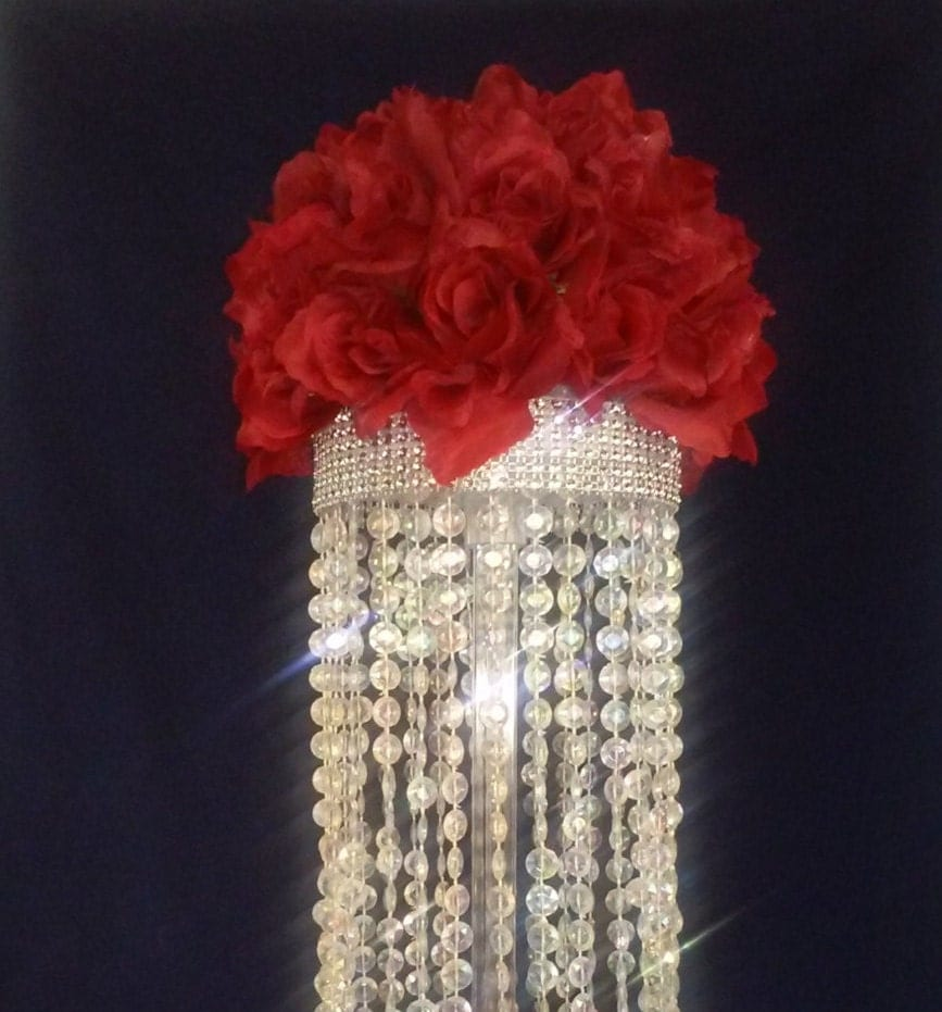 Crystal chandelier table centerpiece limited by