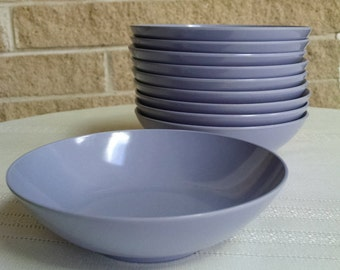 Melmac Bowls by Royalon, Inc. - Lavender/ Purple - Berry/Dessert/Snack Bowls - Vintage 1950s - Set of 10 - Made in USA