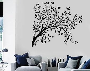 Wall Decal Tree Branch Cool Art For Bedroom Vinyl Sticker Art 1418dz