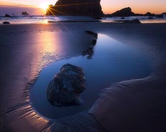 The Proposal, second beach, washington, la push, washington coast, seascape, sunset, wall art
