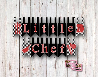 Chef Party Banner, Cooking Party, Chef Party, Cooking Birthday, Chef Birthday, Chopped Party, Little Chef Party, Baking Party
