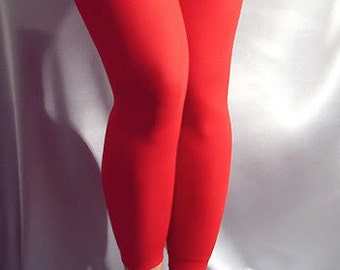 Thin spandex leggings Red
