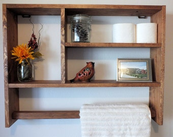 Perfect Rustic Shelf,Towel Rack,Bathroom Shelf,Rustic Shelf,Shelf,towel Shelf