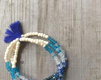 Bracelet glass beads, bracelet boho
