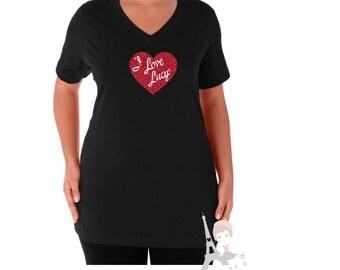 I Love Lucy Shirt -Womans and Junior Tee- TV Sitcom Logo Classic Hollywood - Lucille Ball