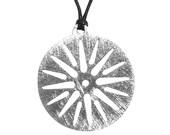 Star of Vergina Unisex Pendant  Solid Sterling Silver Handmade Pendant Sun of Vergina Greek Pendant Anhänger Greek Talisman Round Necklace