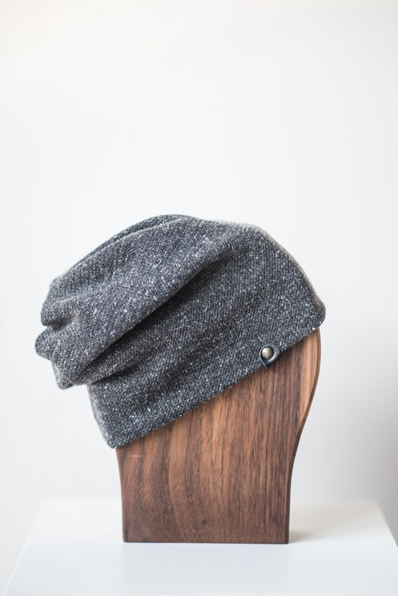 ALOUETTE - autumn hat with prints for baby and kids: boys and girls - grey
