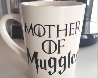 Harry Potter mug, Game of Thrones mug, Hogwarts, Muggle, Dumbledore, Ron Weasley, Harry Potter gift, Harry Potter cup