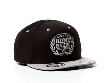 Home Baked Clothing Snapback  (Black/Grey)