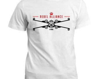 Rogue One / Rebel Alliance X-Wing T Shirt - Star Wars Starfighter Tee Top - Gift Tshirt