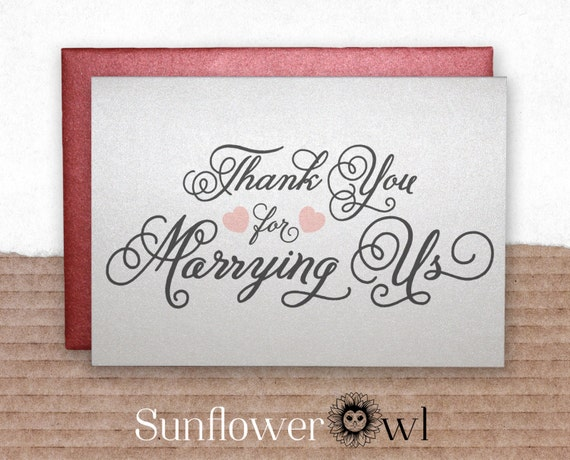 marrying us, gift for wedding officiant, Wedding Card to Ask Officiant ...