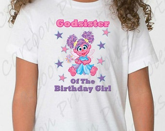 Abby Cadabby Godsister of the Birthday Girl IMAGE use as Printable Clip art Iron on transfer Sesame Street Shirt T-shirt DOWNLOAD DIY