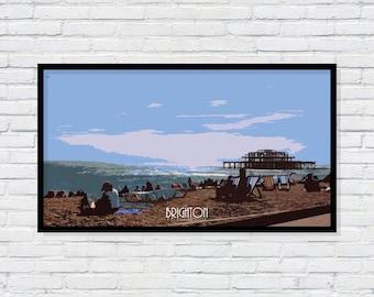 Brighton - UK 1930's poster
