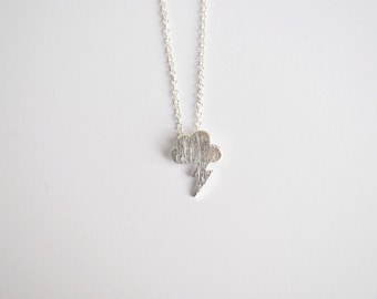 Cloud Necklace Silver Plated
