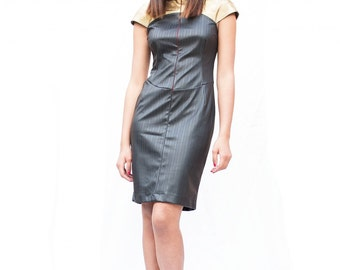Eco-friendly leather dress
