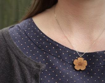 Buttercup Necklace   Laser Cut Nature & Flower Jewellery