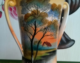 "Was  55, now 45 Dollars! Noritake ""Tree in The Meadow"" Vase TAKE5 COUPON"