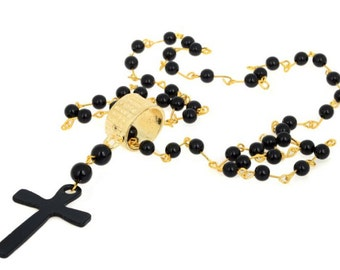 Vintage Rosary Bead Necklace