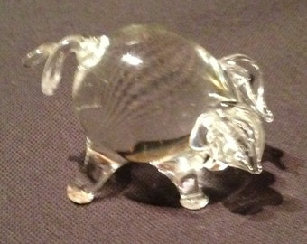Lovely Miniature Handblown Pig. All intact and in excellent condition.