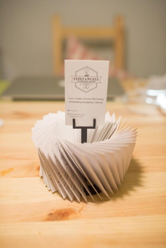 3d Printed Business Card Stander Business Card holder Work