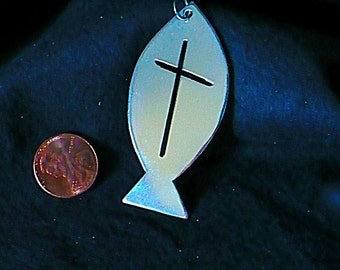 Fish with an Offset Pierced Cross