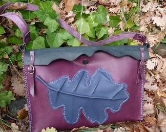 "Handmade Leather Bag ""Winter"""