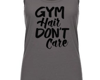 workout shirts, workout tank, womens workout tank, fitness apparel, exercise tank, workout clothes, running shirt, gym hair dont care