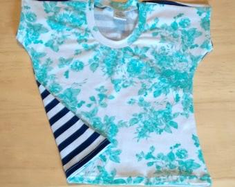 Floral/Striped Toddler Shirt
