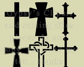 Cross SVG, Christian Cross, Christian Clipart, Vector, Cutting file, Cameo Silhouette Design, Cricut Design, png, svg,ai,eps, dxf