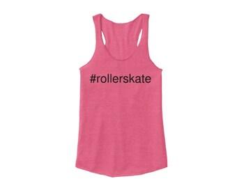 Hashtag #rollerskate Racerback, Pink