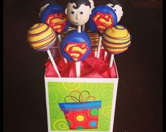 Superman Themed Cake pops