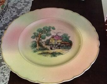 Decorative AJ Wilkinson dinner size plate C 1947