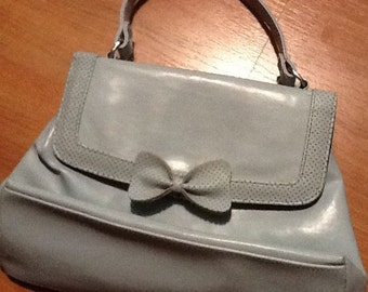 SOLD Pretty vintage  baby blue handbag with bow from the 1980s'SOLD