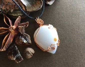 Polka Dot Jasper and Herkimer Diamond Necklace