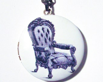 Vintage Chair Locket Necklace