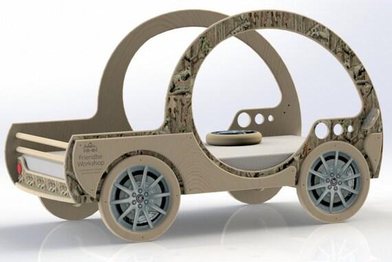 Diy plans toddler jeep pickup car bed plans toddler mattress from friendbeworkshop on etsy - Jeep toddler bed plans ...