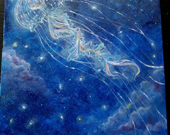 Jellyfish in the Sky (Original painting)