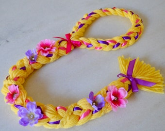 Rapunzel Tangled Costume Braid, Rapunzel Hair for Dress Up Halloween Birthday Party