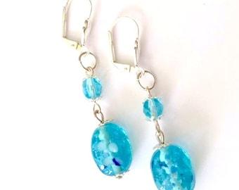 Blue Earrings | Blue Bead Earrings | Mothers Day Gift | Blue Jewellery | Gift for Her | Birthday Gift | Dangle Drop Earrings | Mum Gift