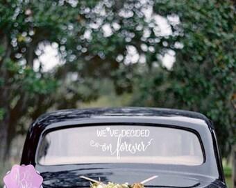 Nous avons décidé sur Forever mariage sticker fenêtre de voiture plusieurs Styles de mariage décoration de mariage-cadeaux mariage sticker décoration de voiture mariage